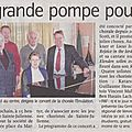 Article du journal l'avenir - concert du 15 novembre 2015