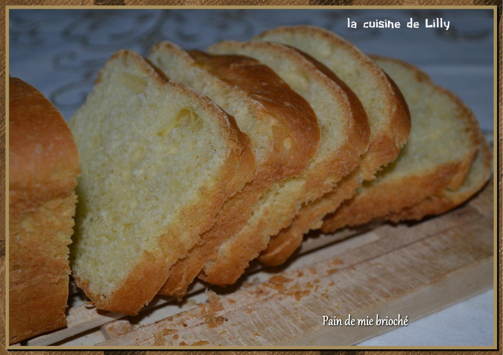 Pain de mie brioch la cuisine de lilly for Congeler du pain de mie