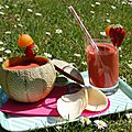 Smoothie estivale: melon, fraise et citron battle food #20