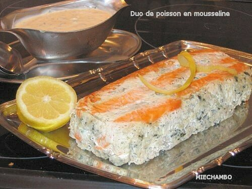 Duo de poisson en mousseline miechambo cuisine for Mousseline en cuisine
