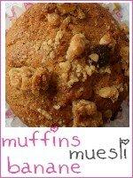 Muffins banane - muesli chocolat - index