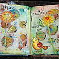 Atelier art journal - une page multicolore / multicoloured journal page