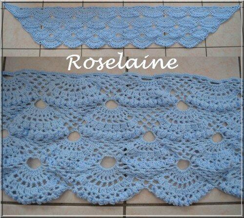 Roselaine 84 Blue shawl