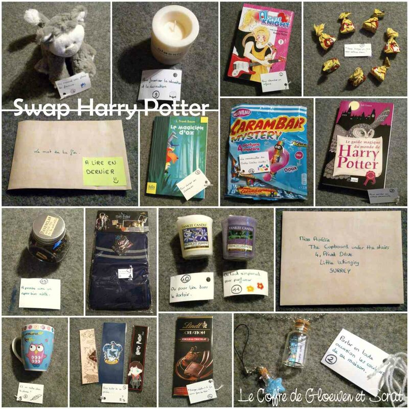 Swap Harry Potter - le colis de WonderCee
