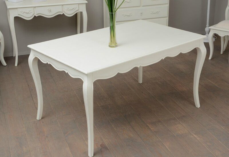 table blanche galbée 140 cm