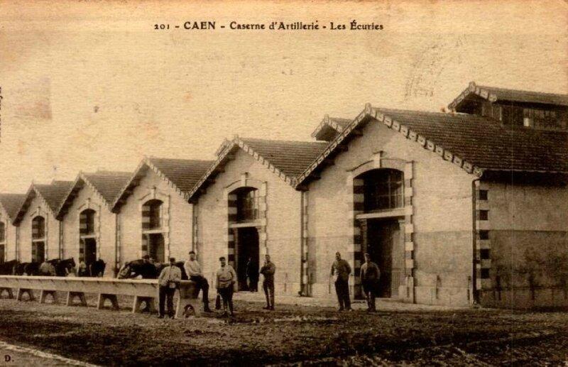 Caen, caserne d'artillerie, les Ecuries