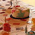 Gâteau thème peinture