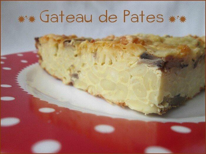 gâteau de pâtes aux champignons 1