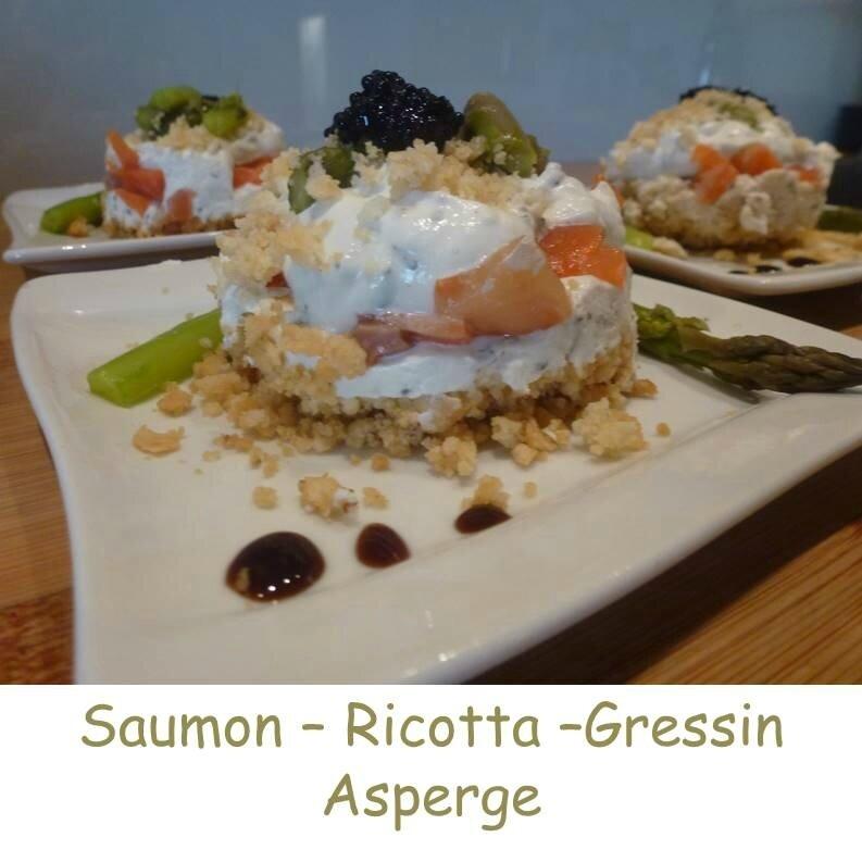 Saumon Asperges ...