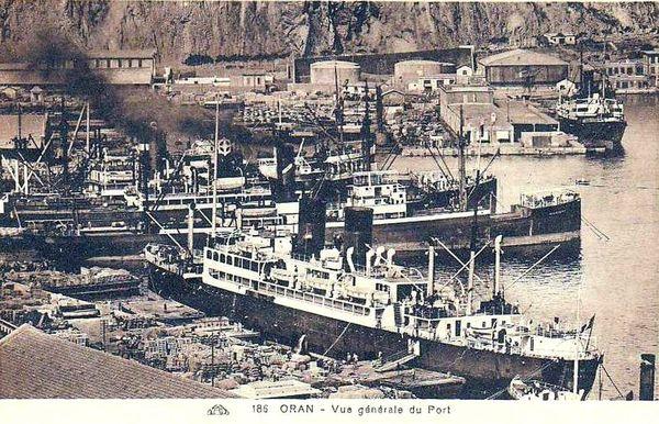 Oran- 126- travail sur les quais