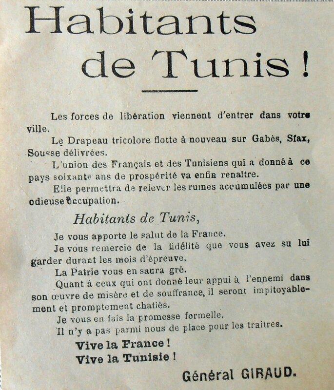 affiche Tunis Général GIRAUD