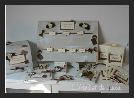 decoration mariage theme chocolat