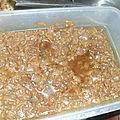 Sauce d'oignons et ails haches