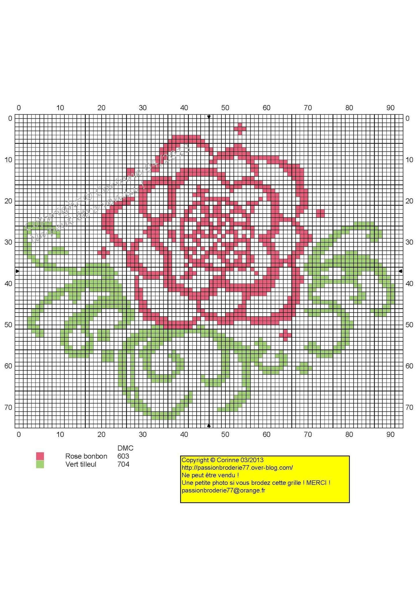 Fleur rose et verte copie
