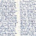 Lettres à l'encre délavée