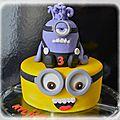 Gâteau minion n°3