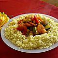 Recette couscous marocain de légumes et d'agneau