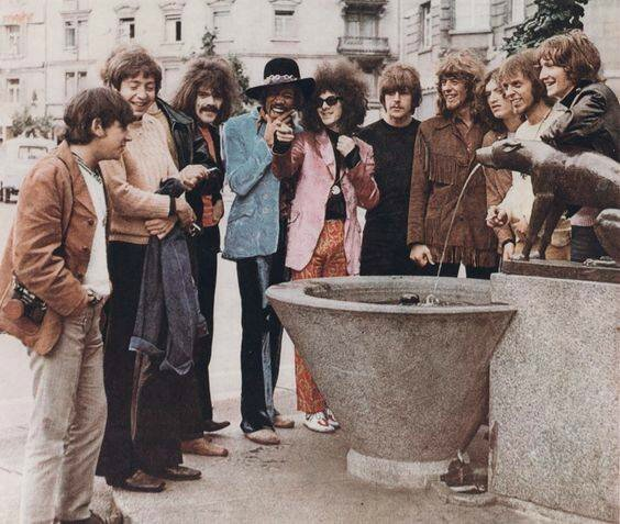 The Jimi Hendrix Experience were part of a once-in-a-lifetime 'Monsterkonzert' in Zürich in May 1968, sharing a bill with Traffic, John Mayall's Bluesbreakers, The Move and Eric Burdon & The New Animalsy