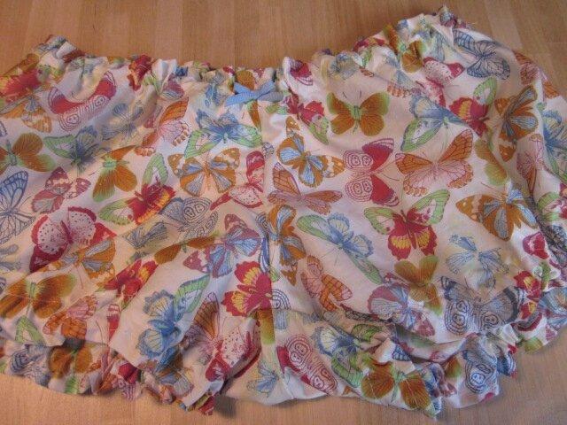 Culotte BIANCA en coton blanc imprimé papillons multicolores - noeud ciel (2)