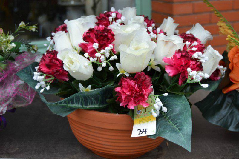 Composition florale artificielle exterieur for Composition florale exterieur hiver