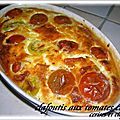 CLAFOUTIS AUX TOMATES CERISES