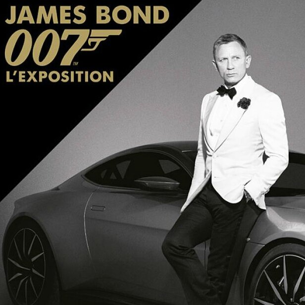 Billboard for the James Bond exhibition in Paris. Opened from April 16th up to September 6th 2016. Source: melty.fr/