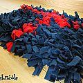 faire un tapis récup, faire un tapis soi-même, idée déco récup