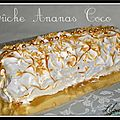 Bche meringue ananas coco...