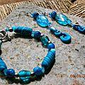 Bracelet turquoise mabré