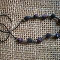 Perles de Fimo enroulées enfilées sur cordonnet