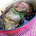 Jarret de veau épicé aux olives