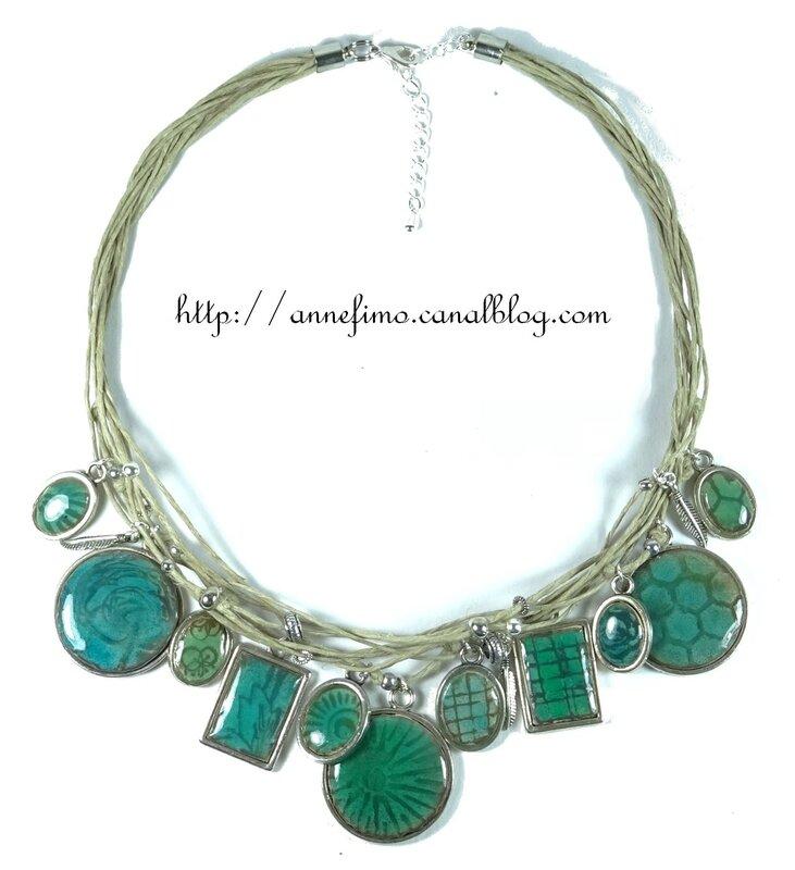 collier médaillons céramique 5