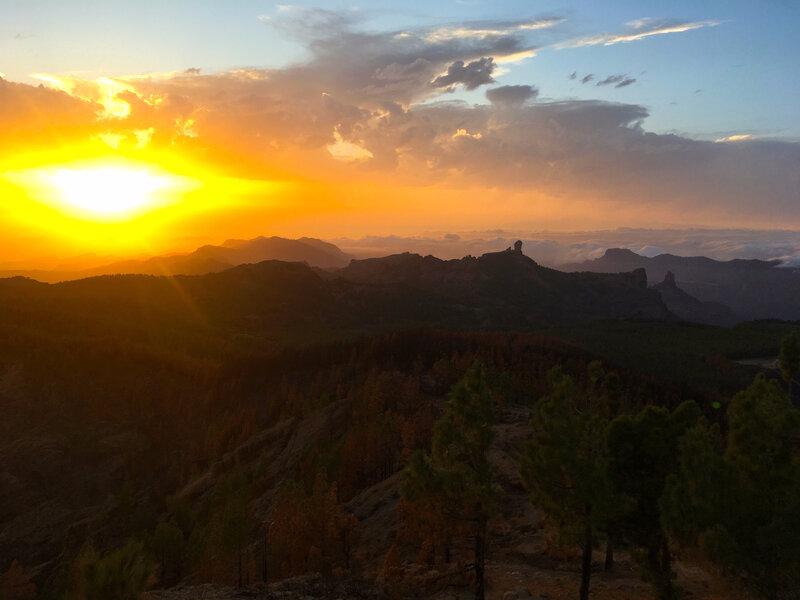 Coucher du soleil depuis Pico Las Nieves
