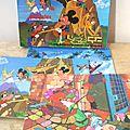 Boite de 3 puzzles Walt Disney - Fernand Nathan 1974
