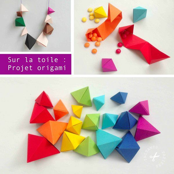Projet minute en origami instants papiers - Origami simple a realiser ...