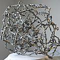Hervé THAREL - SCHMIMBLOCK'S alba nera 2013 - acrylique sur plastiroc 57x49cm 17