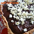 Tarte crme brule - ganache chocolat