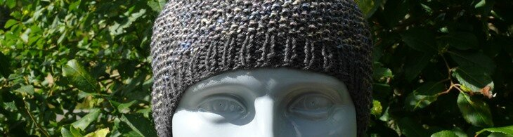 tricoter un bonnet homme au point de riz