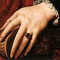 Portrait of Lucrezia Panchiatichi (detail), by Agnolo Bronzino, circa 1540