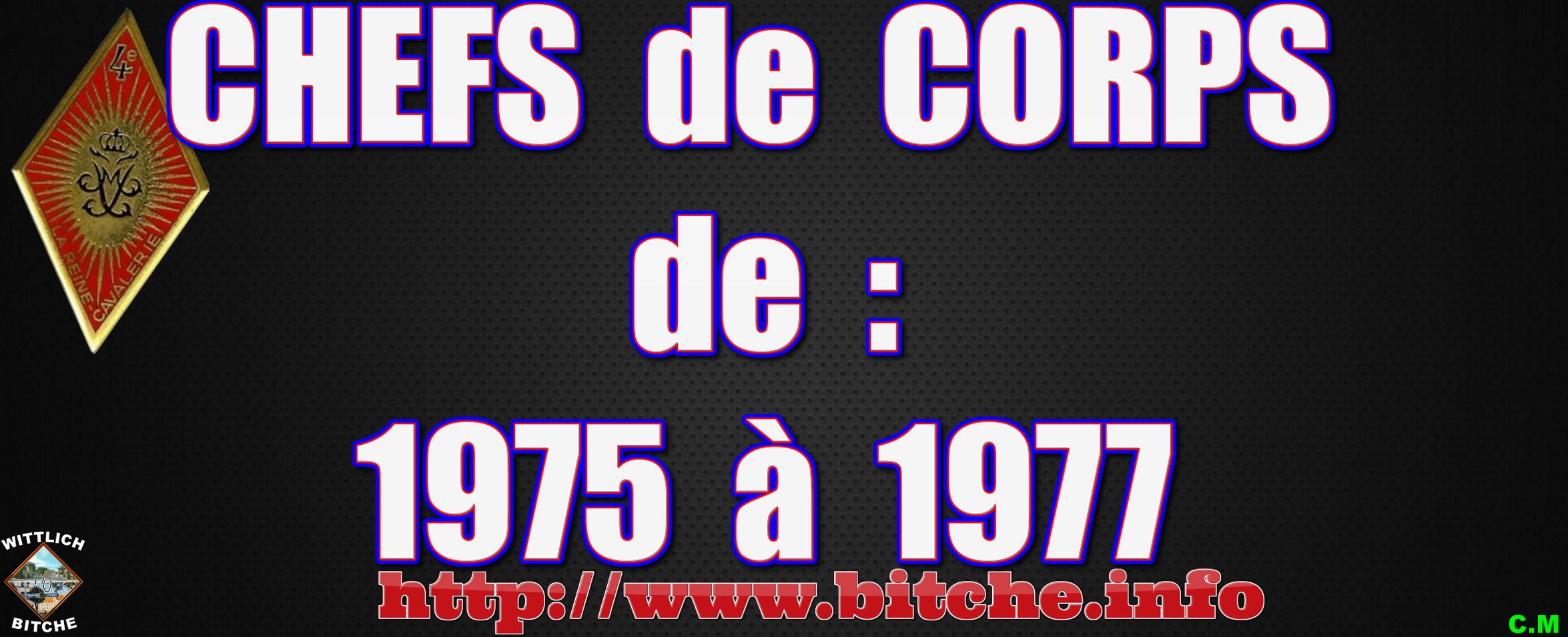 CHEFS de CORPS de 1975