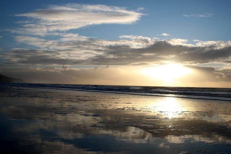 3-Normandie - Etretat, plage, coucher de soleil_0580