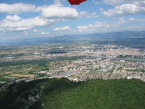 2008 07 07 Vu aérienne depuis l'ULM d'Etoile sur Rhône en direction de Crussol (27)