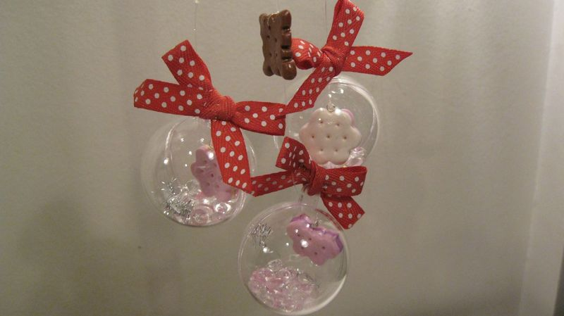 Boules de noel gourmandes cupcakes biscuits et for Decoration de noel originale