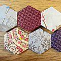 Diy, pochette aux hexagones #4