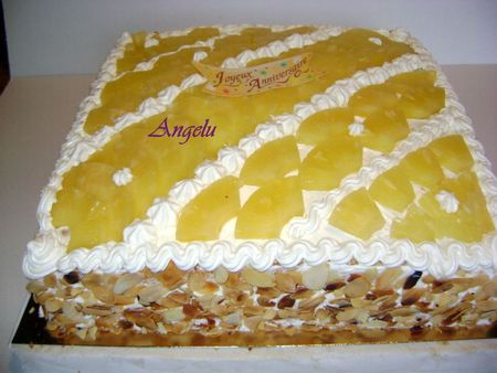 G teau chantilly ananas ma petite patisserie contact - Decoration gateau avec creme chantilly ...