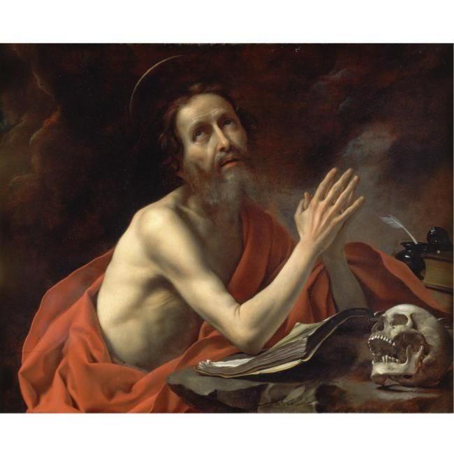 Carlo Dolci (Florence 1616 - 1687), Saint Jerome in prayer