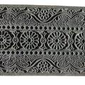 Bois gravé indien XXe siècle, servant à l'impression sur tissu de coton DSCN0324