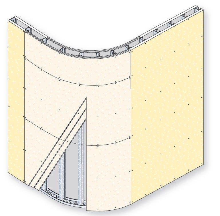 D tail cloison courbe photo de croquis cloisons distributives le m mento dynamique outil - Plaque de platre ba6 ...