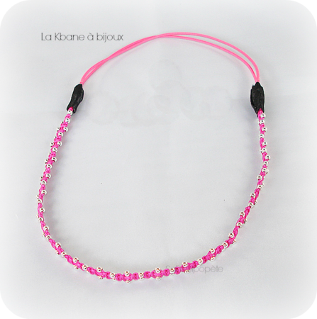 headband rose fluo4