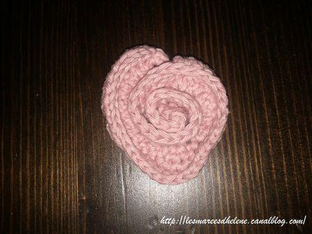 Coeur de rose Crochet tuto